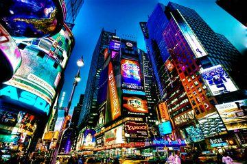 медиафасады в Нью-Йорке
